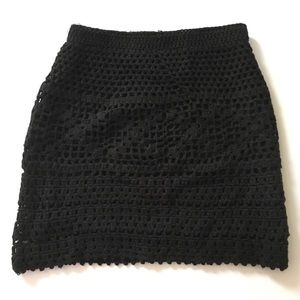 Pins And Needles Black knitted skirt